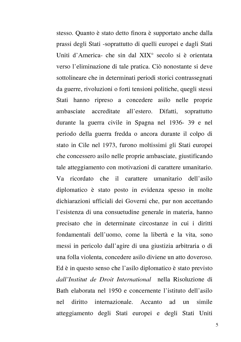 Anteprima della tesi: L'asilo diplomatico, Pagina 3