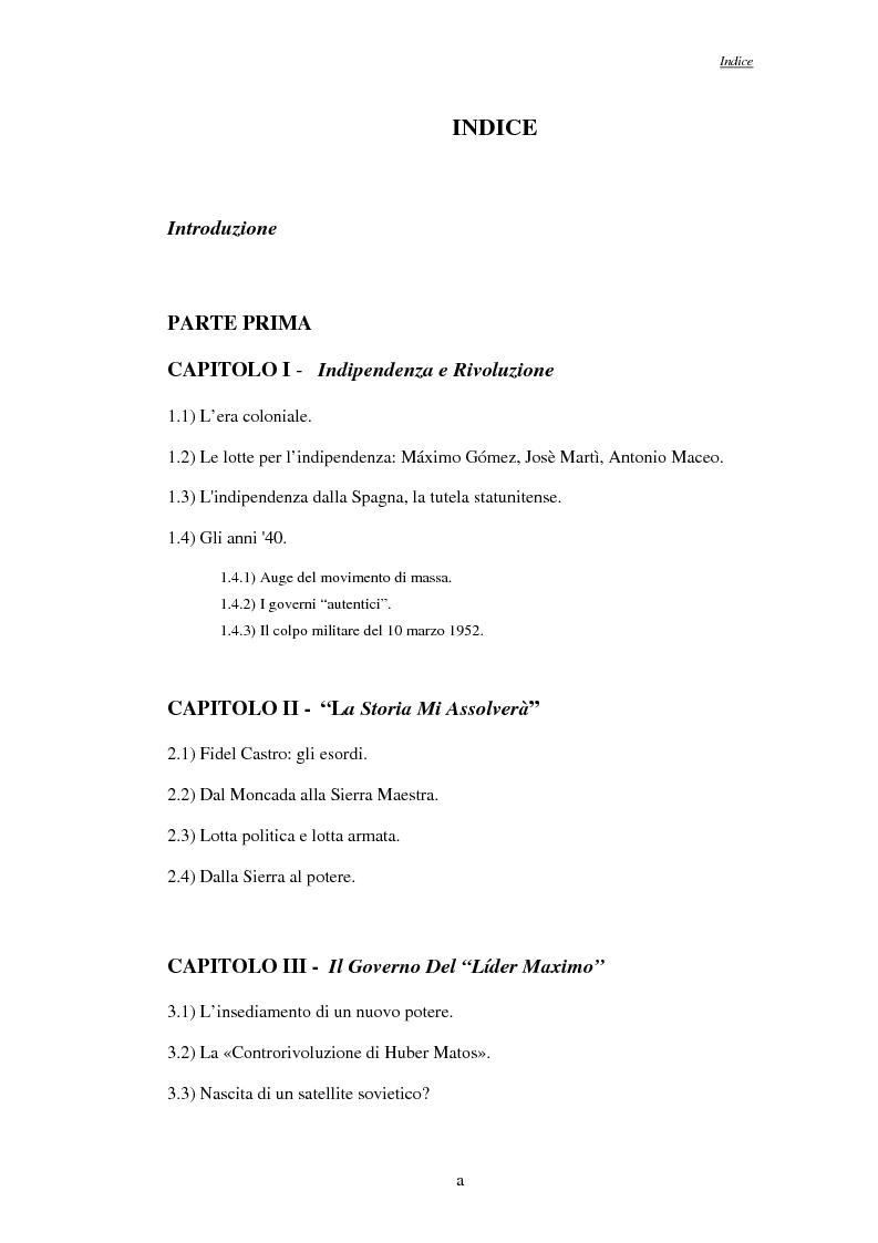 Indice della tesi: La rivoluzione Cubana nel Corriere della Sera, Pagina 1