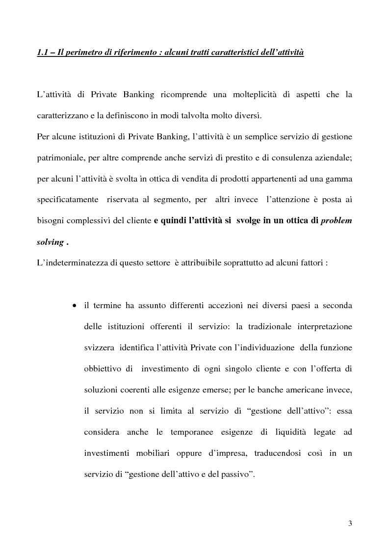Anteprima della tesi: Il Private Banking in Sanpaolo, Pagina 1