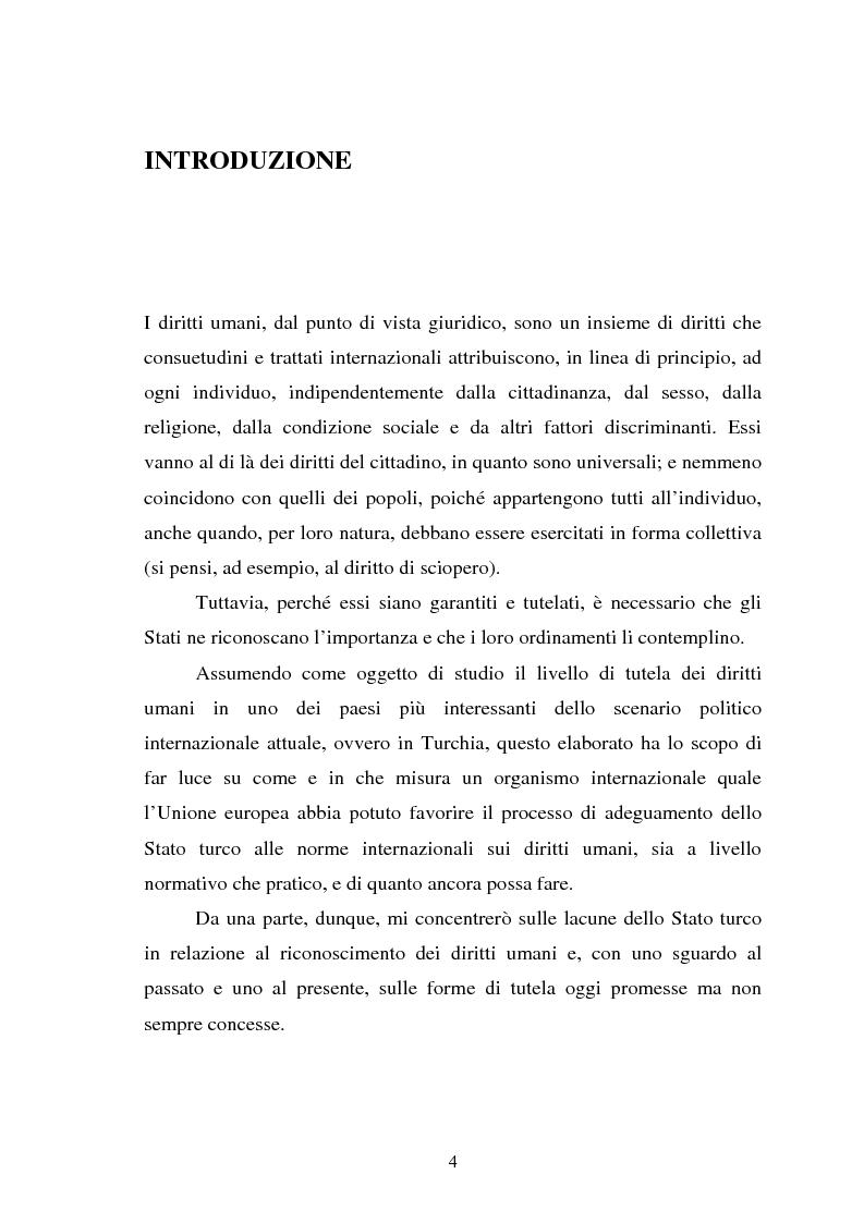 Anteprima della tesi: La pena di morte e i diritti umani nelle carceri turche. L'importanza delle relazioni con l'Unione Europea., Pagina 1