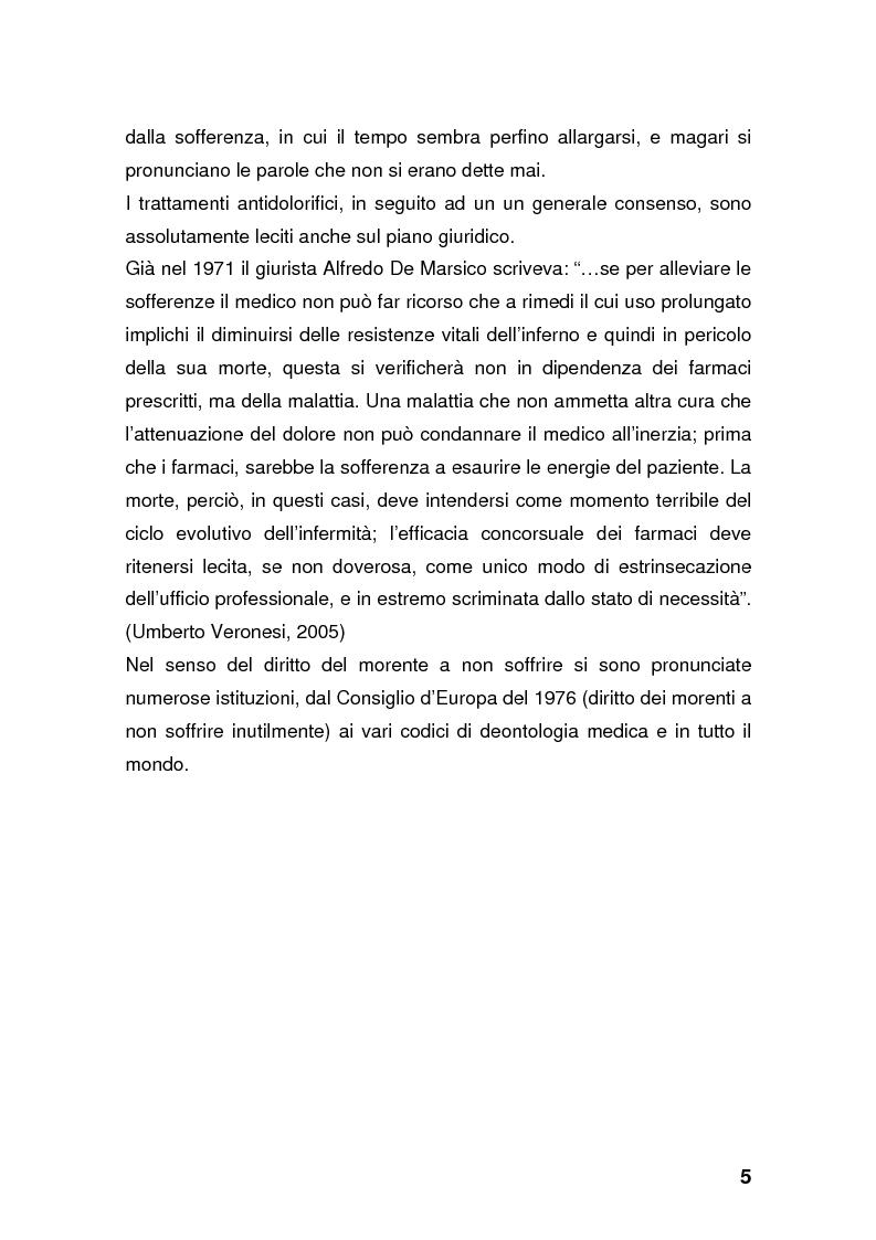 Anteprima della tesi: Dolore: una battaglia ancora da vincere. Curare se non si può guarire., Pagina 5