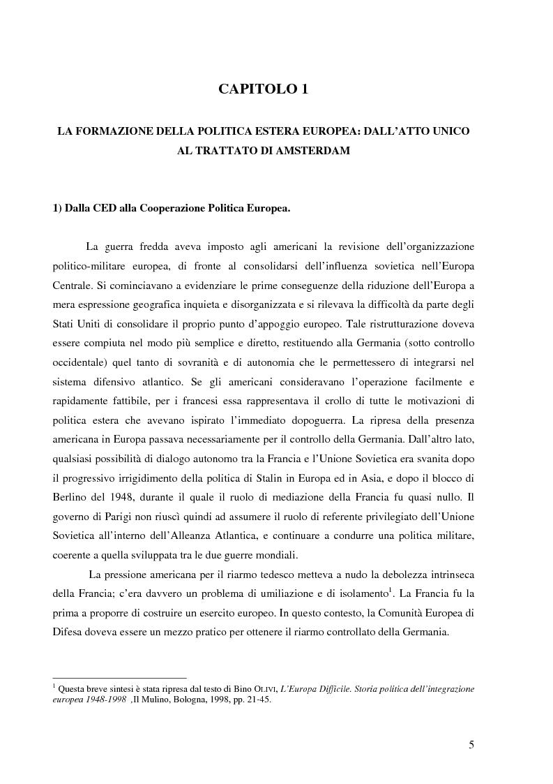 I rapporti tra l'UEO e l'Unione Europea - Tesi di Laurea