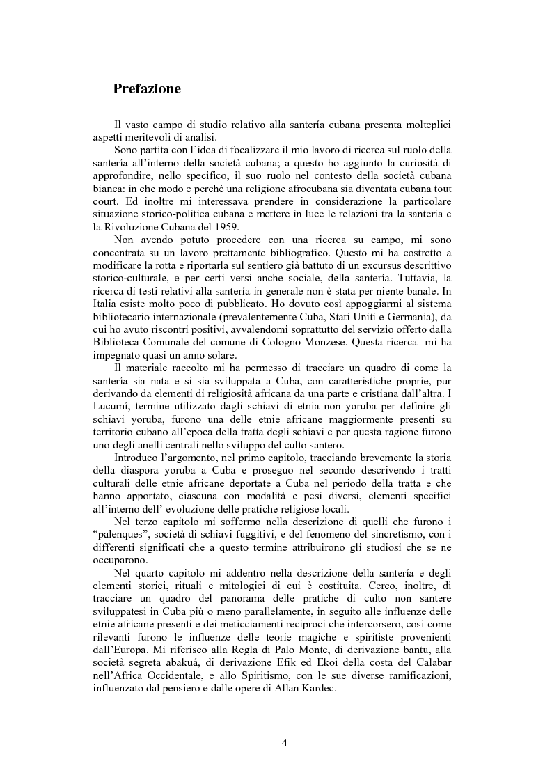 Anteprima della tesi: La santeria. Credenze e pratiche rituali di una religione afrocubana, Pagina 1