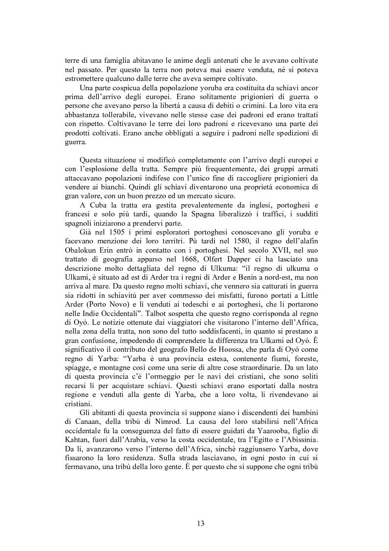 Anteprima della tesi: La santeria. Credenze e pratiche rituali di una religione afrocubana, Pagina 10