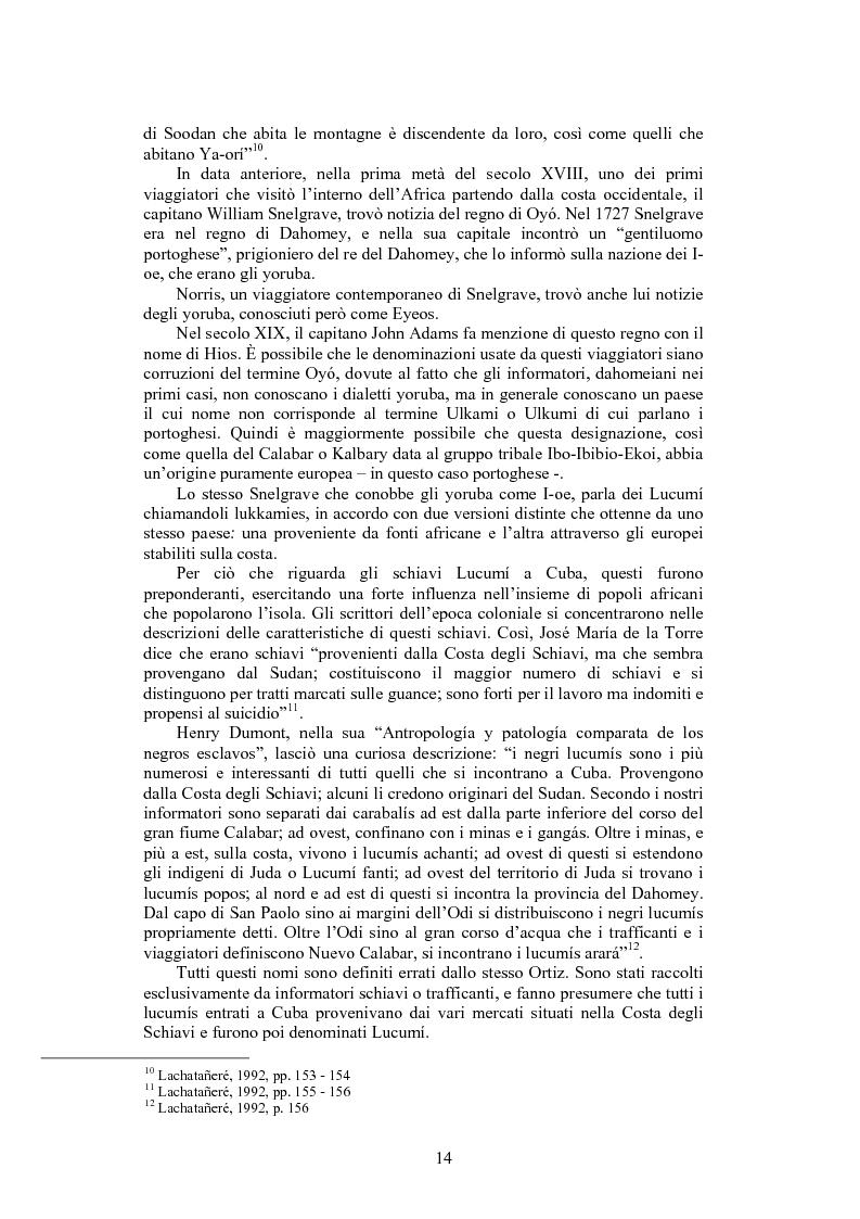 Anteprima della tesi: La santeria. Credenze e pratiche rituali di una religione afrocubana, Pagina 11