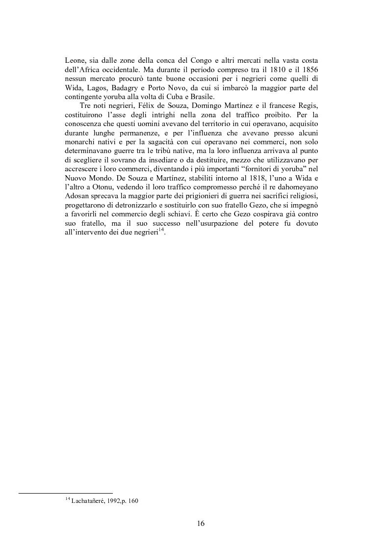 Anteprima della tesi: La santeria. Credenze e pratiche rituali di una religione afrocubana, Pagina 13