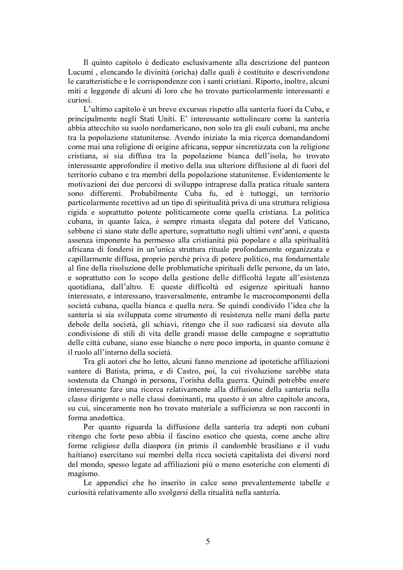Anteprima della tesi: La santeria. Credenze e pratiche rituali di una religione afrocubana, Pagina 2