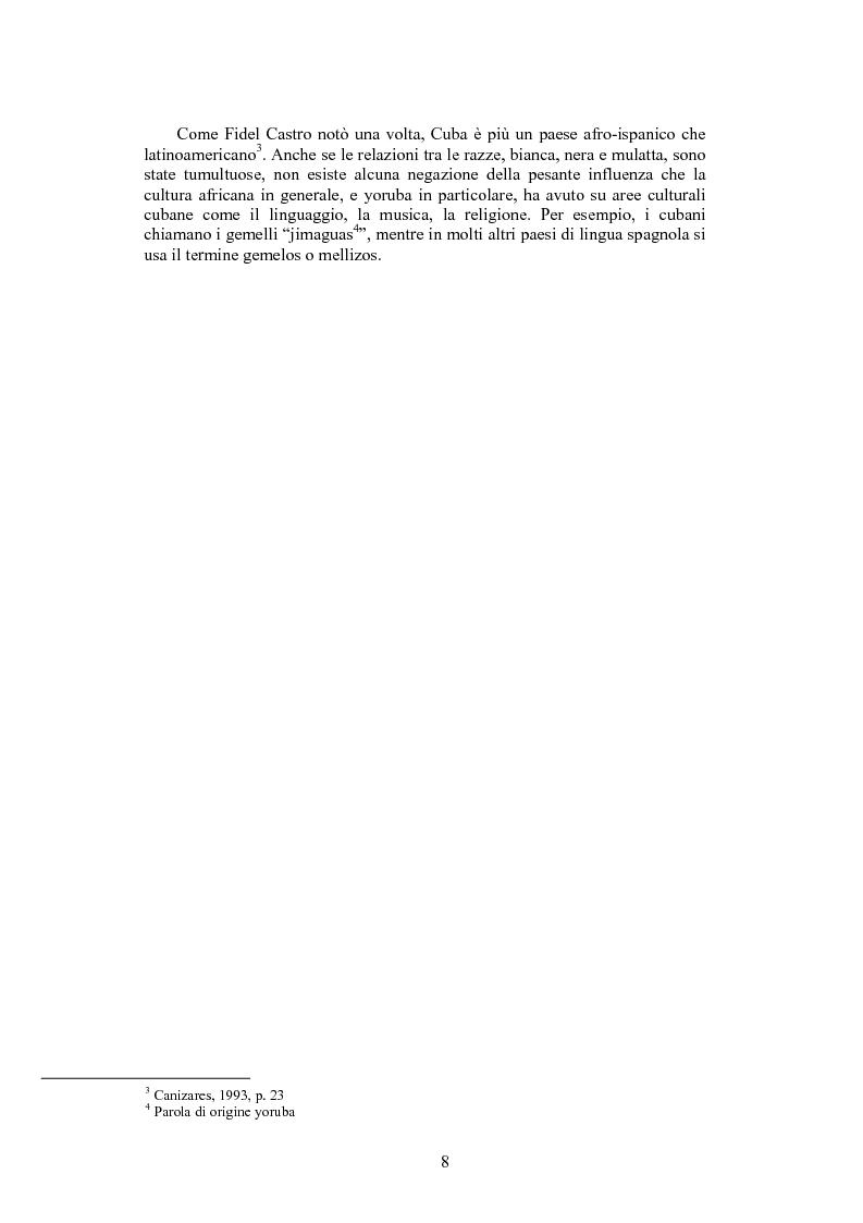 Anteprima della tesi: La santeria. Credenze e pratiche rituali di una religione afrocubana, Pagina 5
