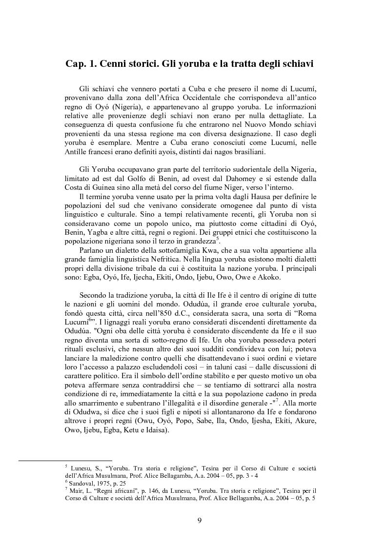 Anteprima della tesi: La santeria. Credenze e pratiche rituali di una religione afrocubana, Pagina 6