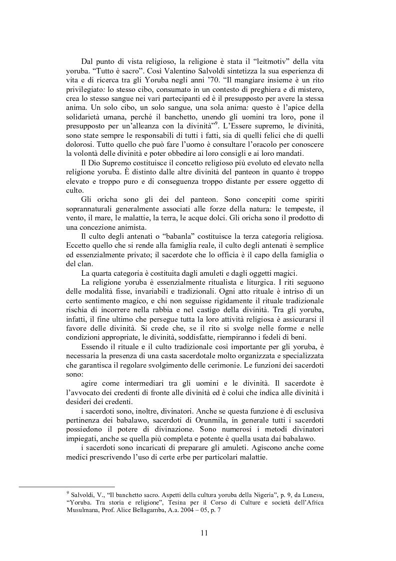 Anteprima della tesi: La santeria. Credenze e pratiche rituali di una religione afrocubana, Pagina 8