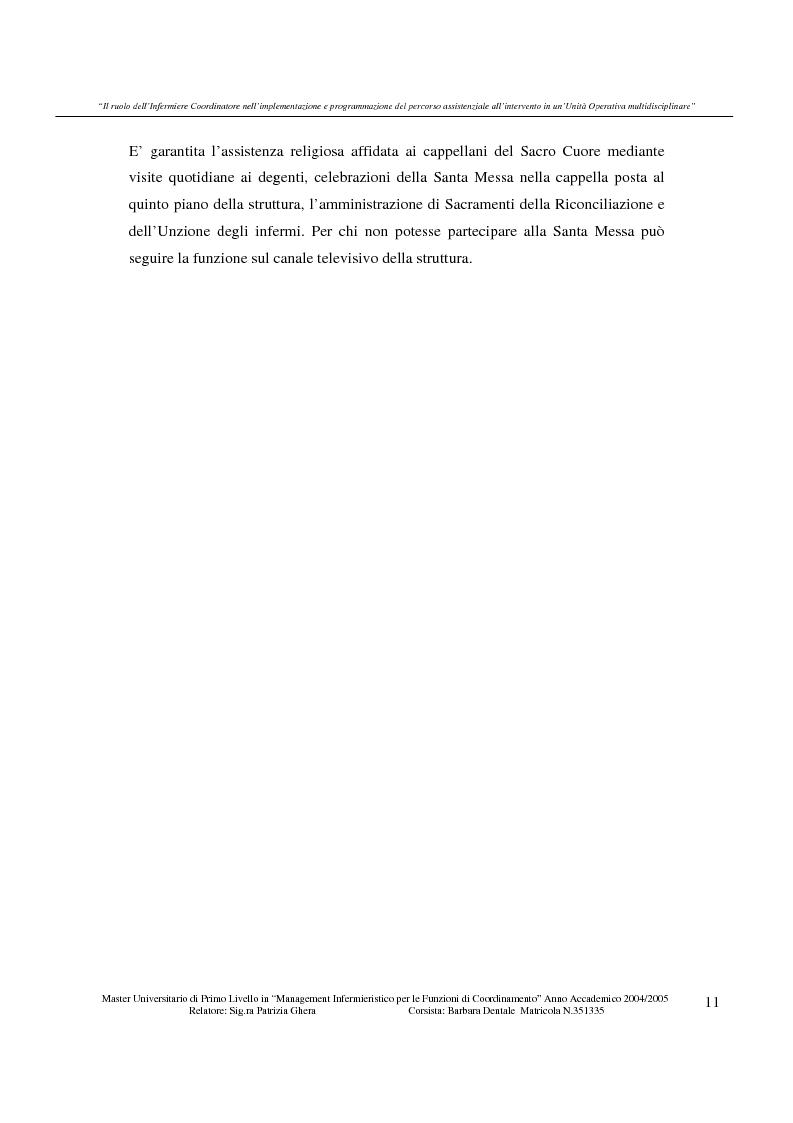 Anteprima della tesi: Il ruolo dell'infermiere coordinatore nell'implementazione e programmazione del percorso assistenziale all'intervento in un'unità operativa multidisciplinare, Pagina 6