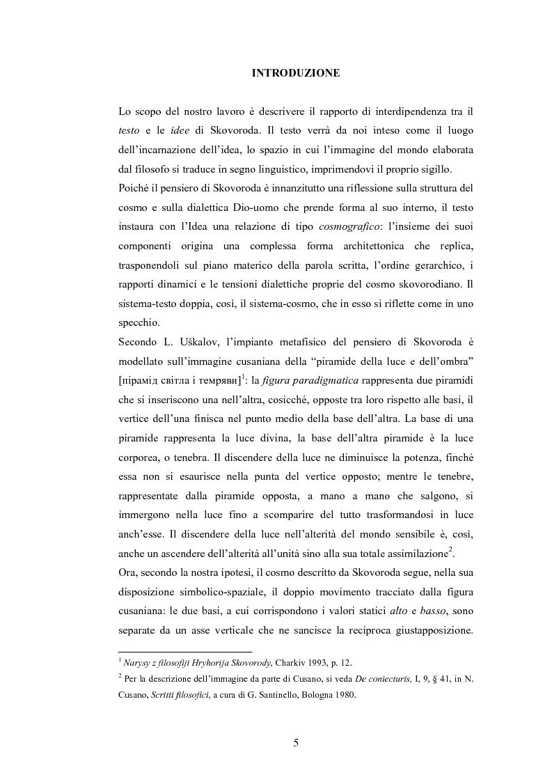 Il dialogo di H.S. Skovoroda ''Beseda 1-ja narecennaja Observatorium (Sion)'': fonti bibliche e patristiche - Tesi di La...
