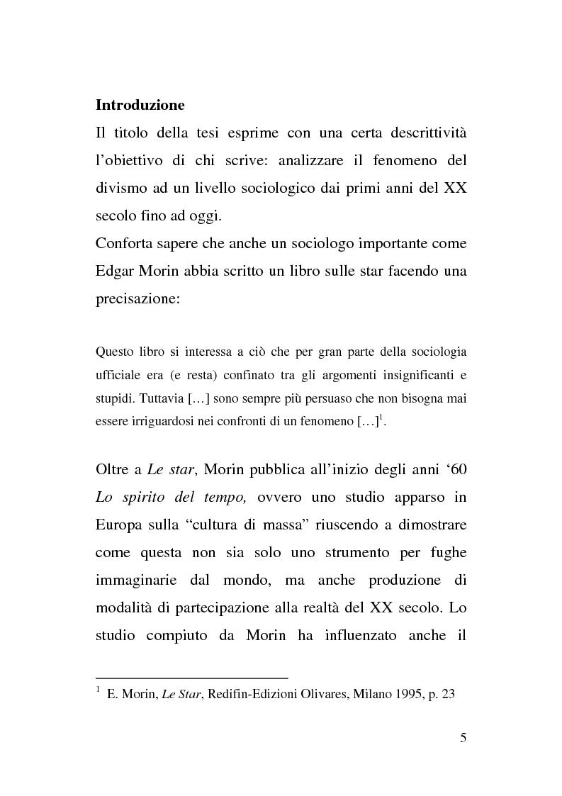 Anteprima della tesi: Dallo Schermo al ''Flusso''. Il Divismo tra cinema e televisione, Pagina 1
