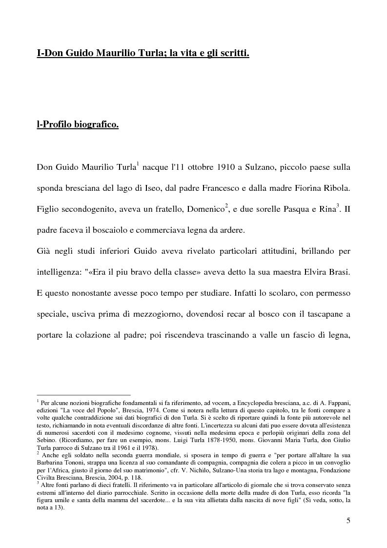 Anteprima della tesi  Don Guido Maurilio Turla  appunti per una biografia. e989aa6018dd