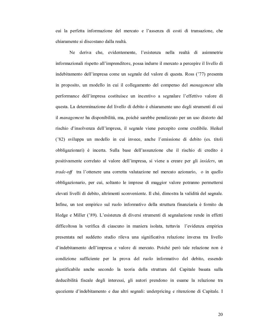 Estratto dalla tesi: Modelli teorici e analisi empiriche sulle Ipo: il caso italiano
