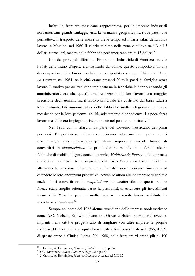 Estratto dalla tesi: Ciudad Juárez: maquila, lavoro femminile e violenza negli ultimi decenni