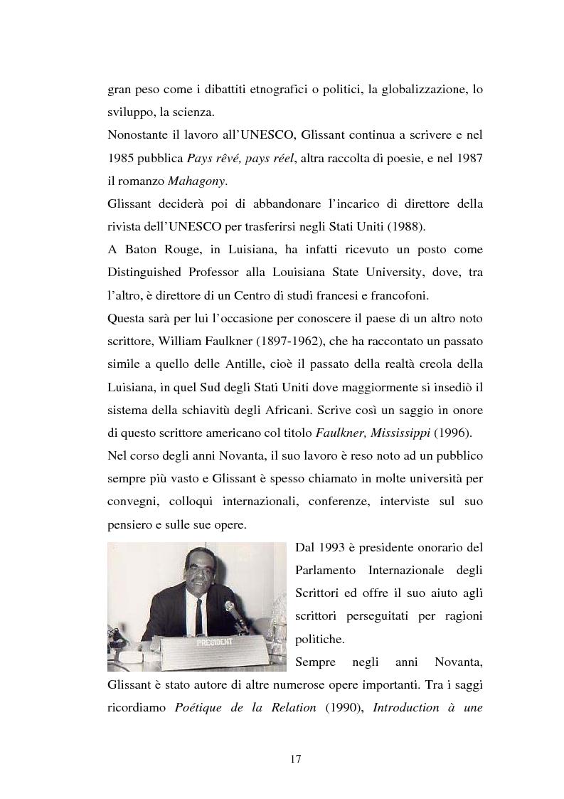 Anteprima della tesi: La ricostruzione della memoria nel romanzo di Edouard Glissant: Le Quatrième Siècle, Pagina 14