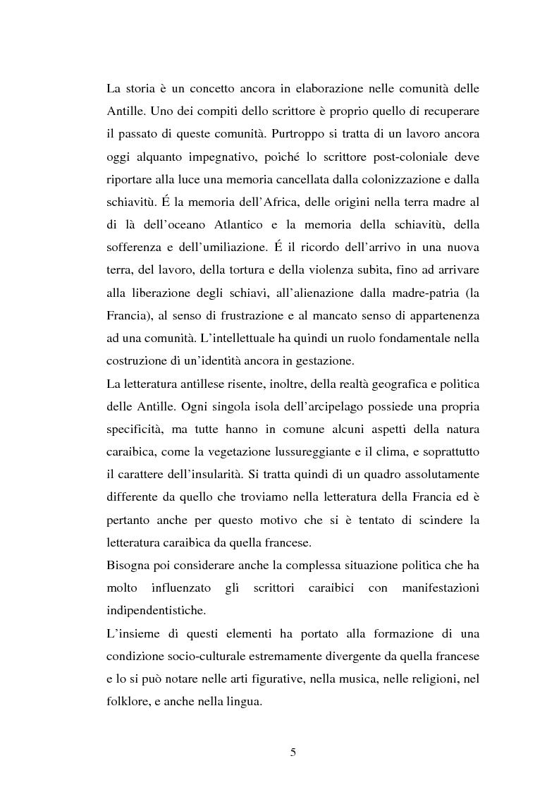 Anteprima della tesi: La ricostruzione della memoria nel romanzo di Edouard Glissant: Le Quatrième Siècle, Pagina 2