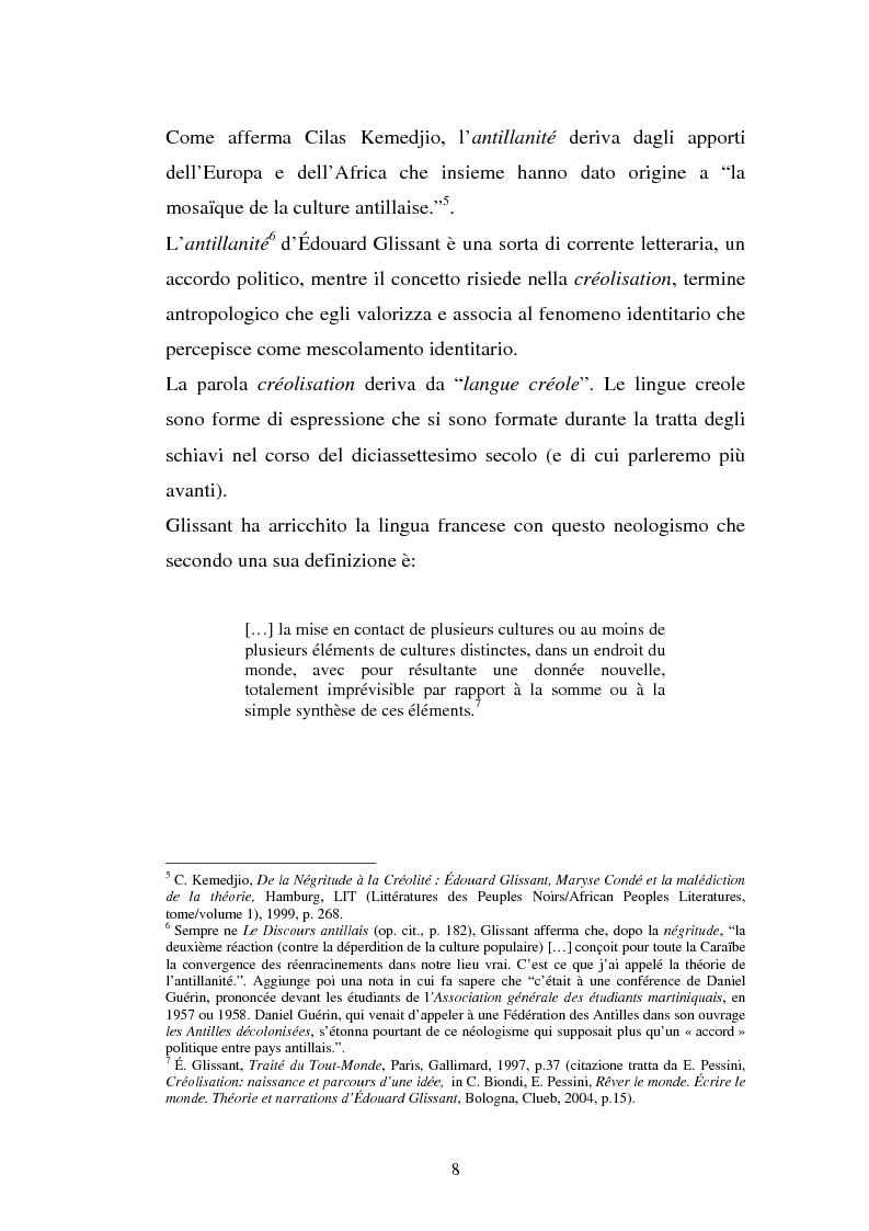 Anteprima della tesi: La ricostruzione della memoria nel romanzo di Edouard Glissant: Le Quatrième Siècle, Pagina 5