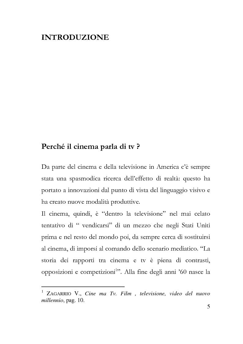 Anteprima della tesi: Human show. Il reality televisivo nel cinema americano, Pagina 1
