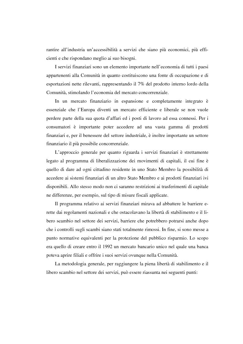 Anteprima della tesi: L'evoluzione del sistema bancario dal Mercato Unico all'Unione Monetaria Europea con l'introduzione dell'euro in Italia, Pagina 3
