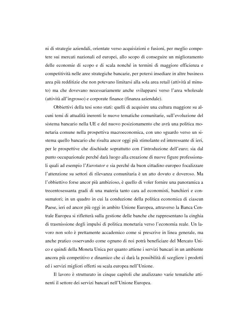 Anteprima della tesi: L'evoluzione del sistema bancario dal Mercato Unico all'Unione Monetaria Europea con l'introduzione dell'euro in Italia, Pagina 7