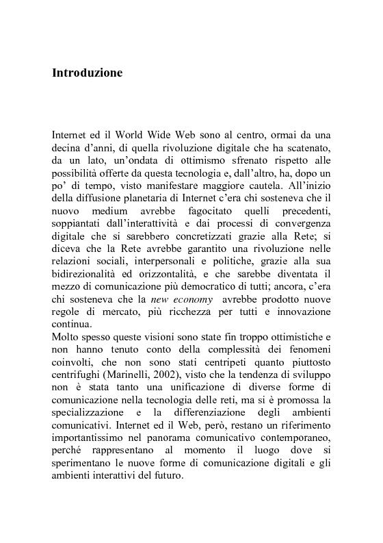 Anteprima della tesi: Il significato nella rete. Prospettive di sviluppo per il Web Semantico, Pagina 1