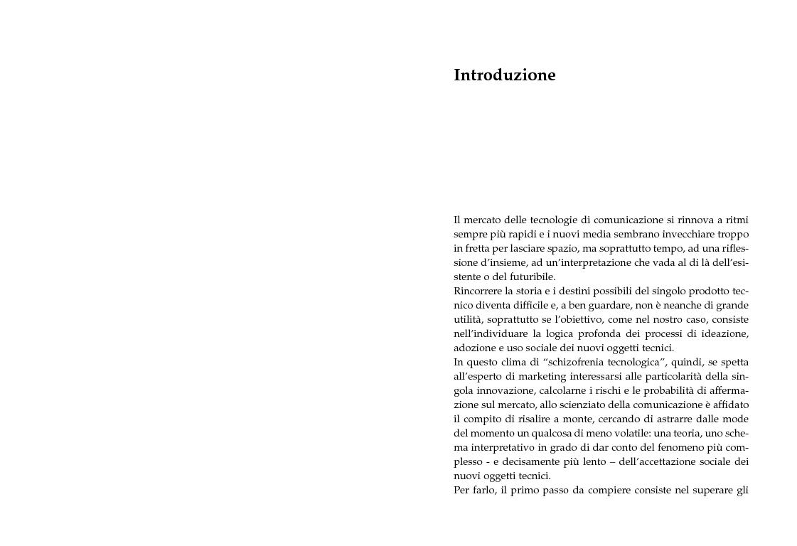 Anteprima della tesi: Innovazione tecnologica e convergenza multimediale. Oggetti e usi sociali., Pagina 1