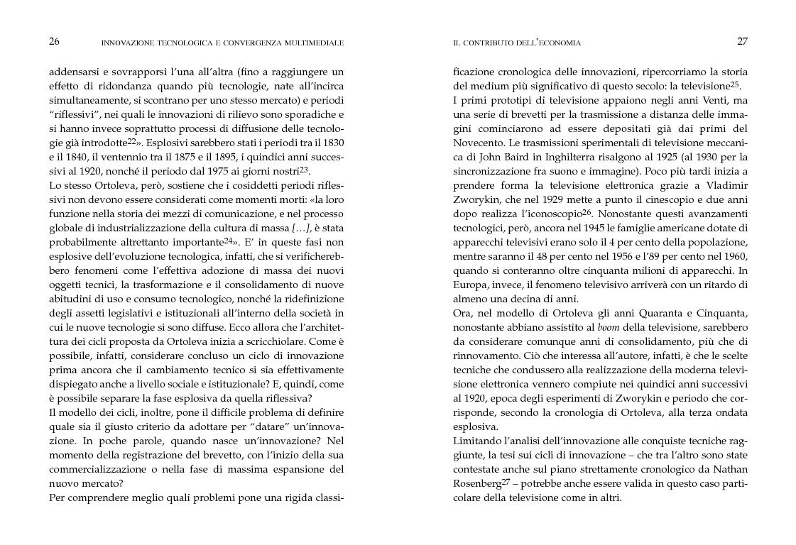 Anteprima della tesi: Innovazione tecnologica e convergenza multimediale. Oggetti e usi sociali., Pagina 10