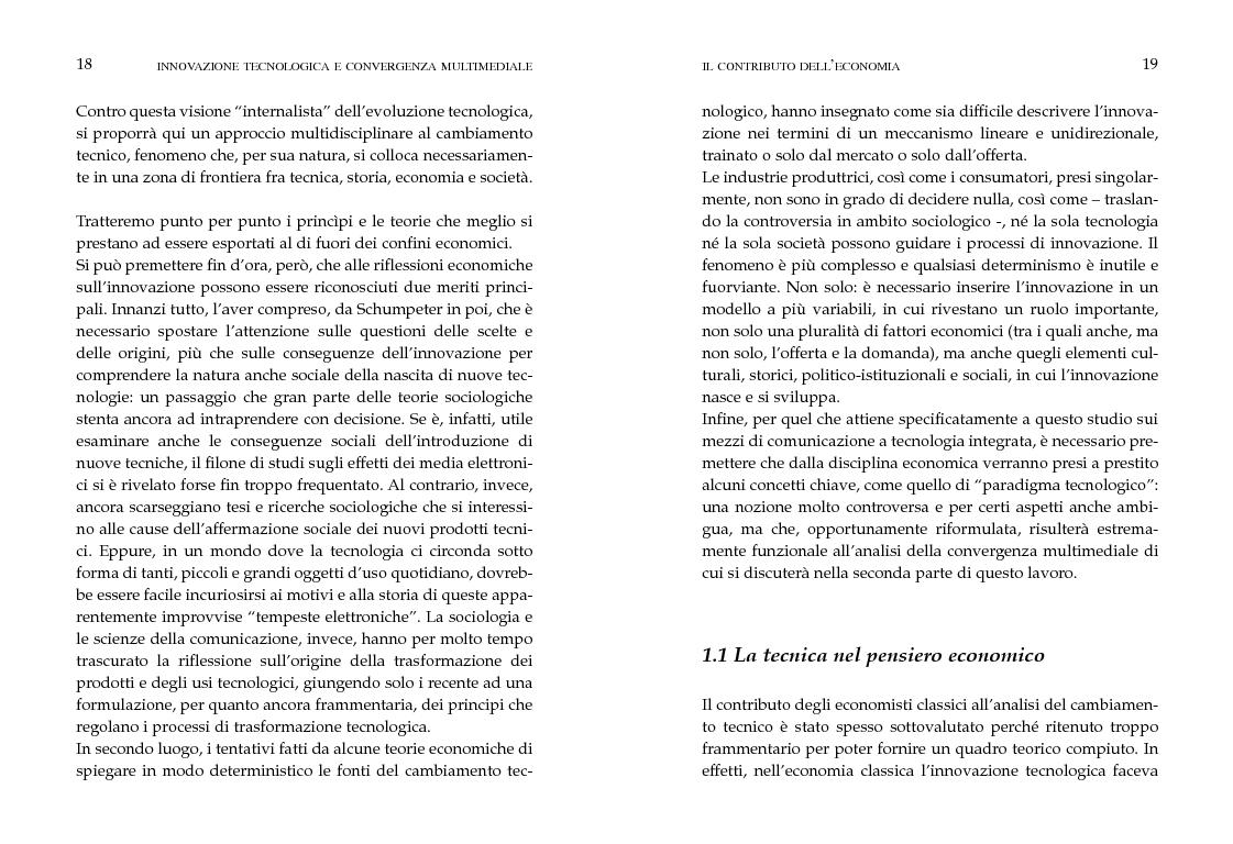 Anteprima della tesi: Innovazione tecnologica e convergenza multimediale. Oggetti e usi sociali., Pagina 6