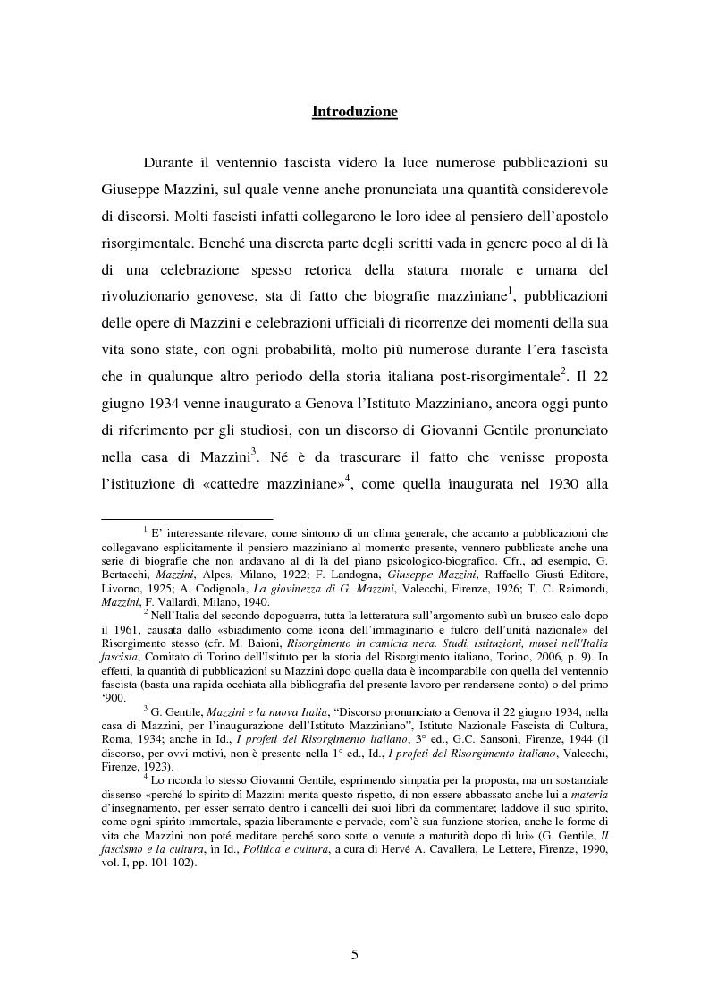 Anteprima della tesi: Mazzini nell'ideologia del fascismo, Pagina 1
