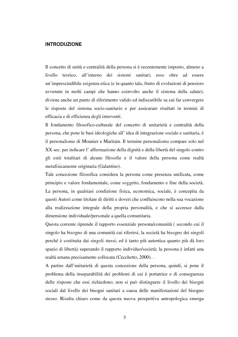 L'evoluzione storica del modello Veneto di integrazione socio-sanitaria dei servizi alla persona - Tesi di Laurea