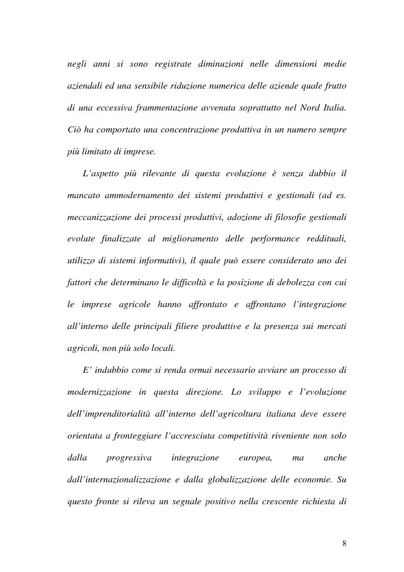 Anteprima della tesi: La misurazione delle performance in agricoltura: aspetti di programmazione e controllo nelle aziende agricole, Pagina 3