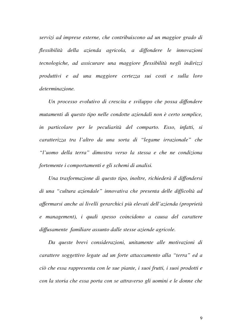 Anteprima della tesi: La misurazione delle performance in agricoltura: aspetti di programmazione e controllo nelle aziende agricole, Pagina 4