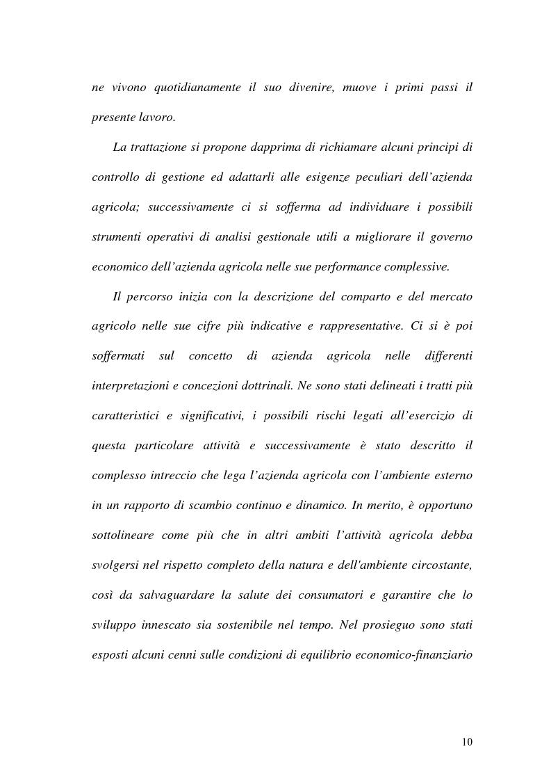 Anteprima della tesi: La misurazione delle performance in agricoltura: aspetti di programmazione e controllo nelle aziende agricole, Pagina 5