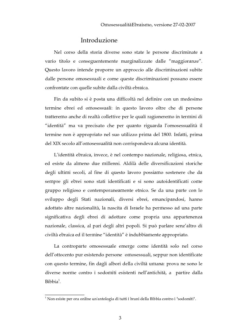 Anteprima della tesi: Ebraismo ed omosessualità: due lunghe storie parallele di discriminazione, Pagina 1