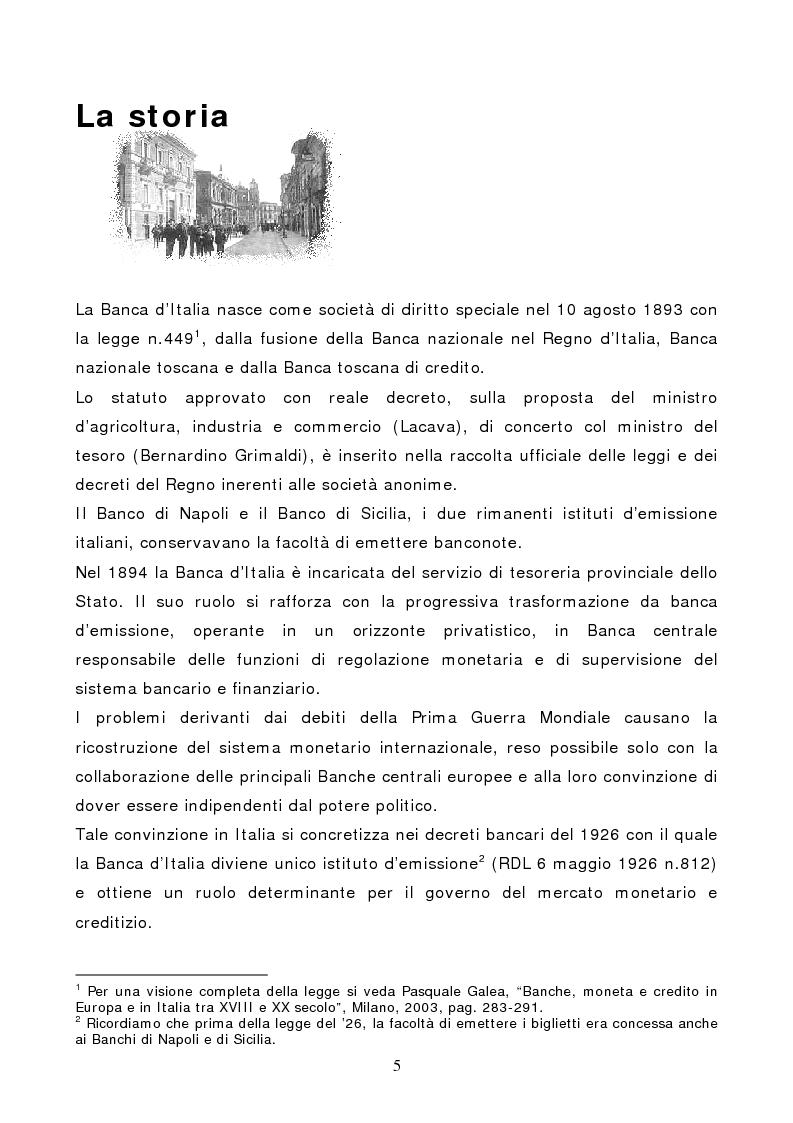 Anteprima della tesi: La Banca d'Italia: struttura e indipendenza, Pagina 2