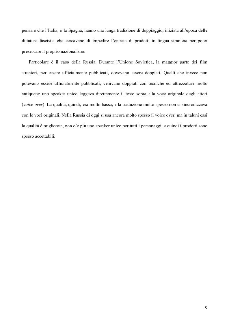 Anteprima della tesi: Tradurre per il cinema: Moskva di V. Sorokin, Pagina 6
