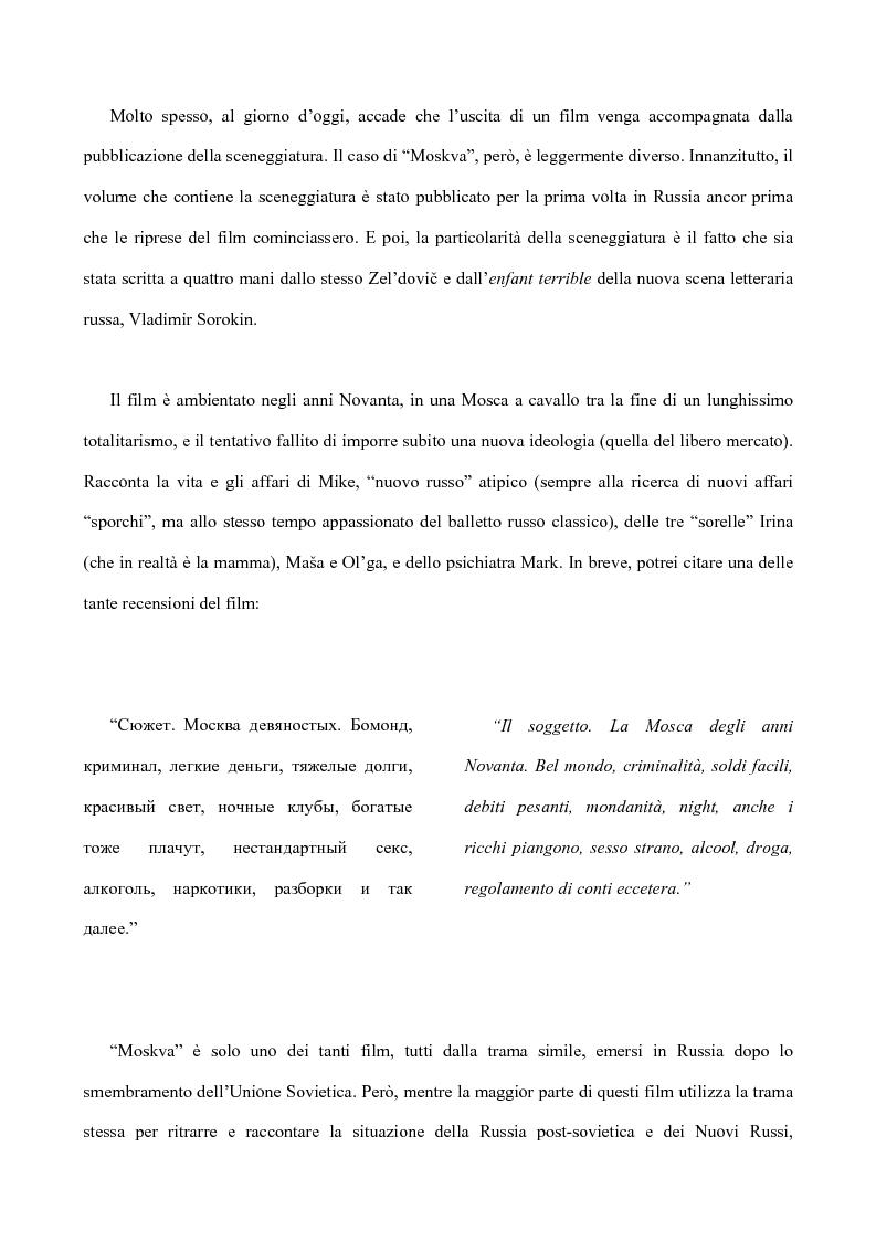 Anteprima della tesi: Tradurre per il cinema: Moskva di V. Sorokin, Pagina 8