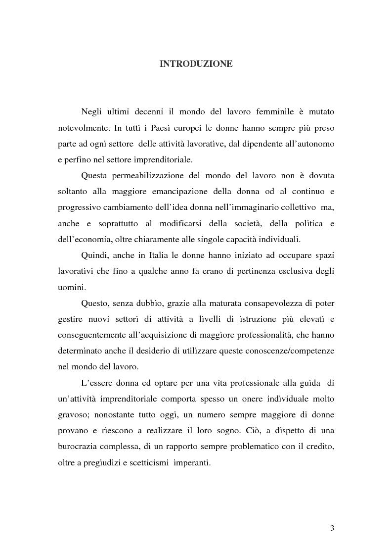 Anteprima della tesi: L'imprenditoria femminile: storia, politiche e motivazioni, Pagina 1