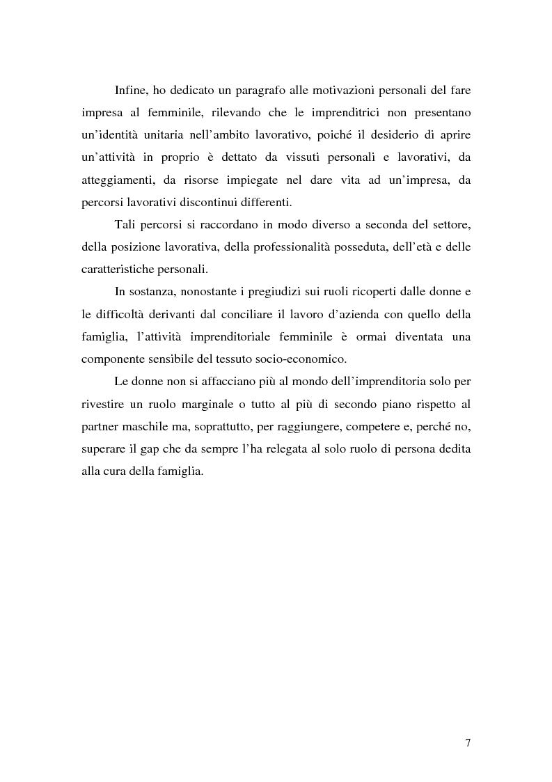 Anteprima della tesi: L'imprenditoria femminile: storia, politiche e motivazioni, Pagina 5