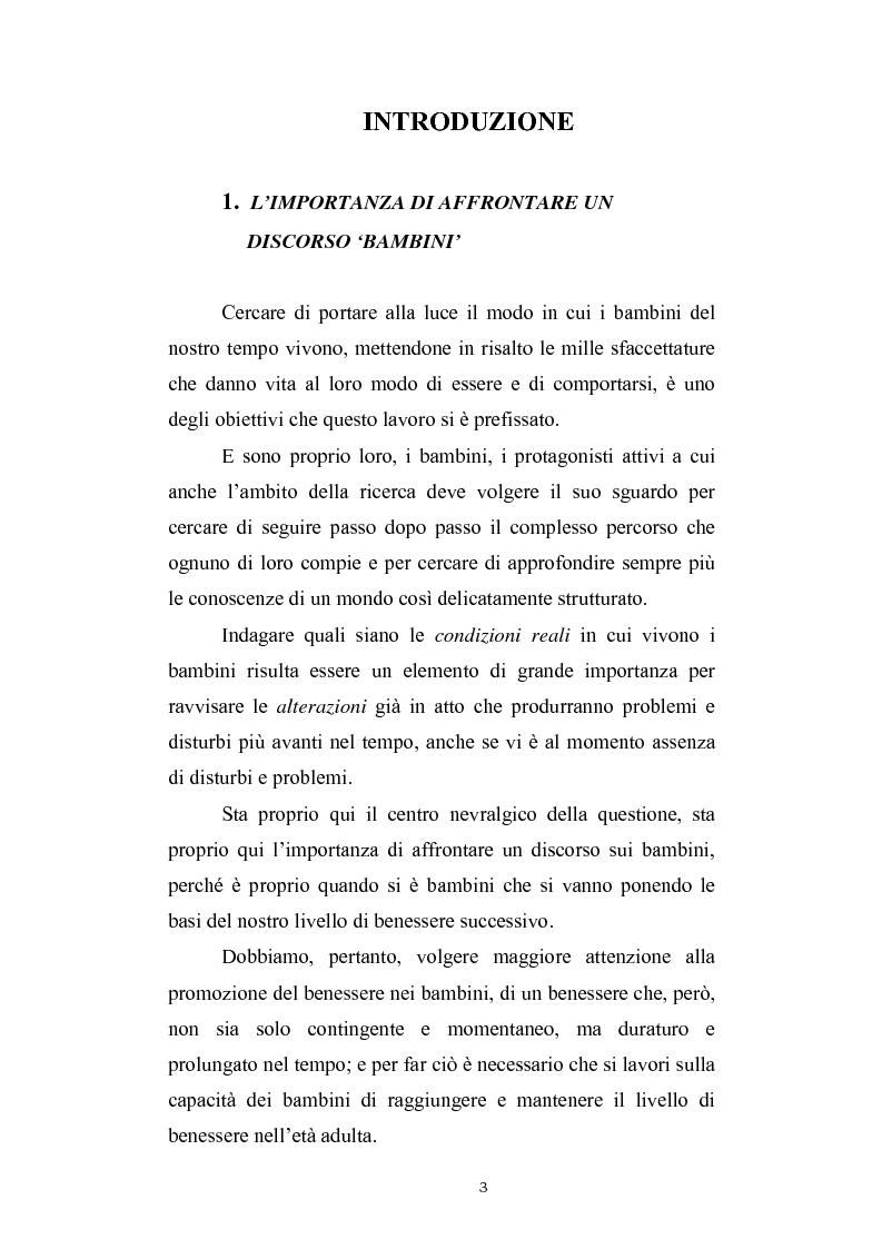 Valutazione dei condizionamenti di fondo nell'Infanzia in un territorio ad economia turistica - Tesi di Laurea