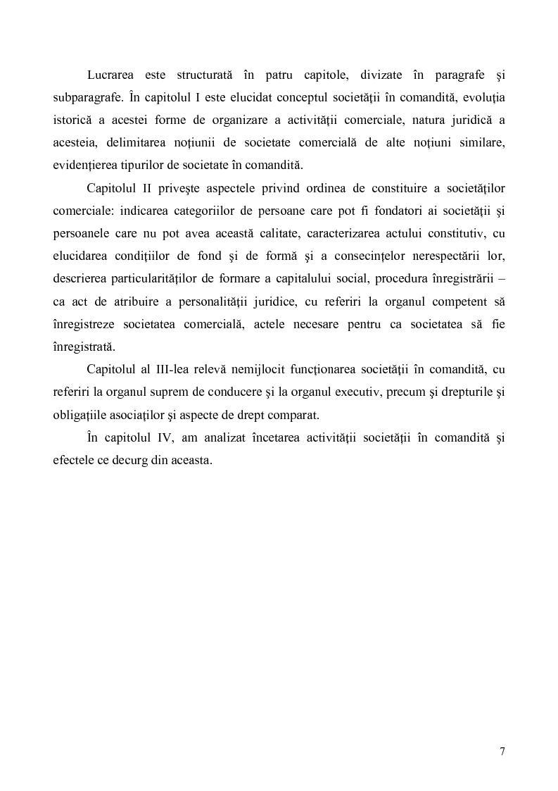 Anteprima della tesi: Probleme teoretice si practice privind constituirea si functionarea Societatii in Comandita, Pagina 5