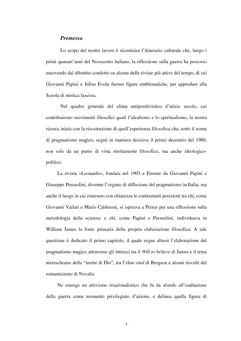 Anteprima della tesi: L'ideologia della guerra nella Scuola di Mistica Fascista, Pagina 1