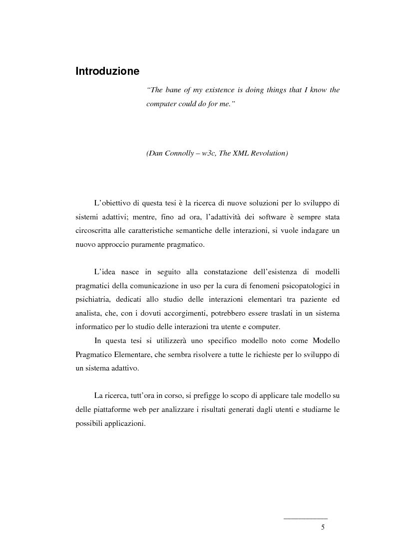 Il Modello Pragmatico Elementare per lo sviluppo di Sistemi Adattivi - Tesi di Laurea