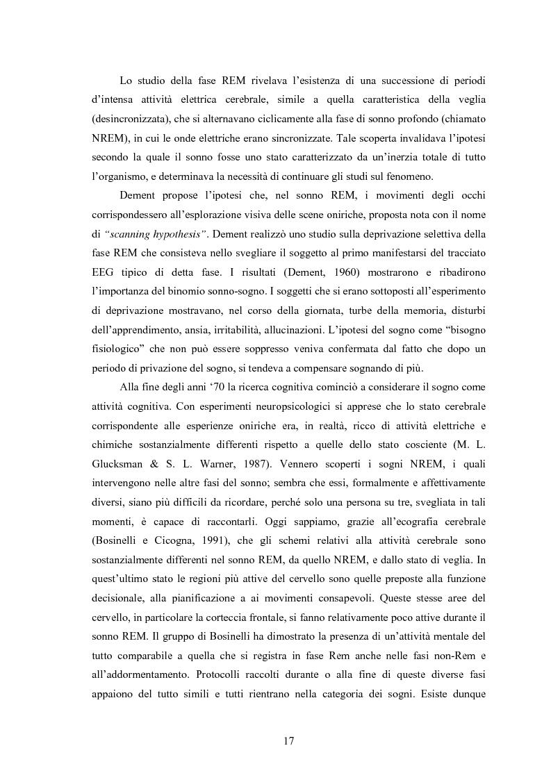 Estratto dalla tesi: La Social Dreaming Matrix: un'indagine conoscitiva sulla funzione sociale del sogno