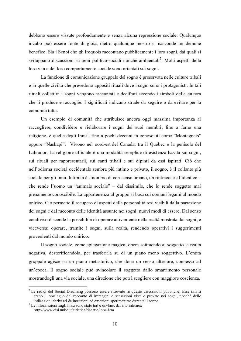 Anteprima della tesi: La Social Dreaming Matrix: un'indagine conoscitiva sulla funzione sociale del sogno, Pagina 10