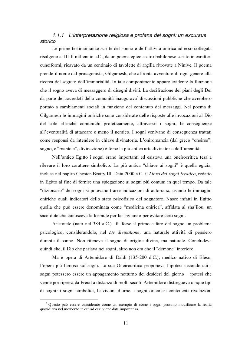 Anteprima della tesi: La Social Dreaming Matrix: un'indagine conoscitiva sulla funzione sociale del sogno, Pagina 11