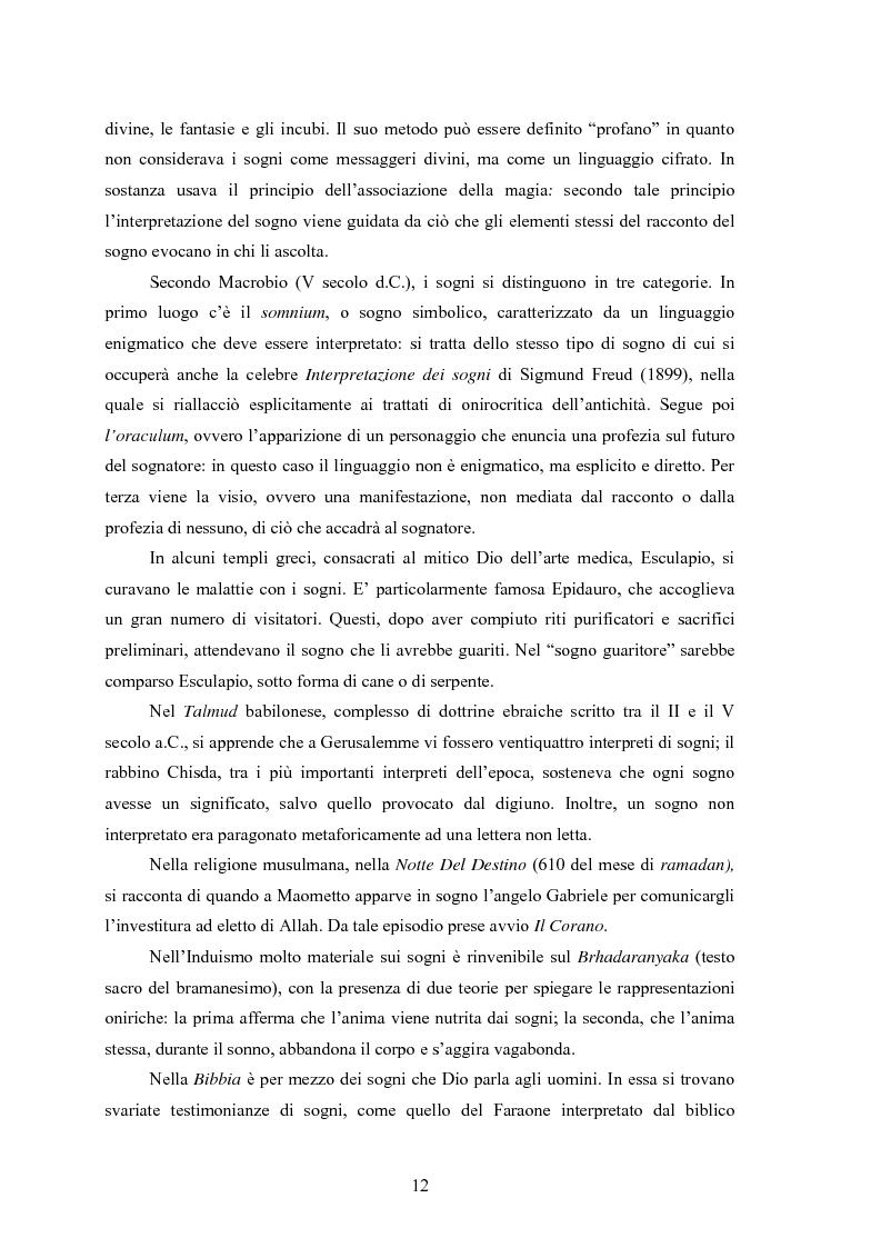 Anteprima della tesi: La Social Dreaming Matrix: un'indagine conoscitiva sulla funzione sociale del sogno, Pagina 12