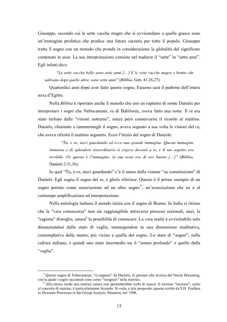 Anteprima della tesi: La Social Dreaming Matrix: un'indagine conoscitiva sulla funzione sociale del sogno, Pagina 13